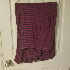 Mossimo Fuscia&Grey Maxi Skirt